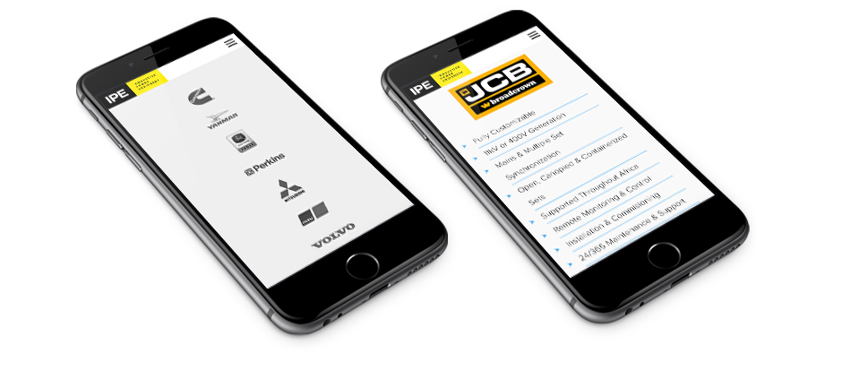 IPE Website Mobile Design
