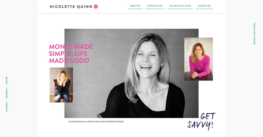Three Images Of Nicolette Quinn