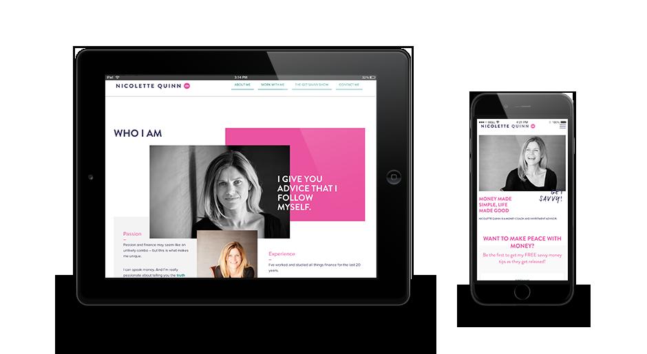Nicolette Quinn Mobile Version Of Website