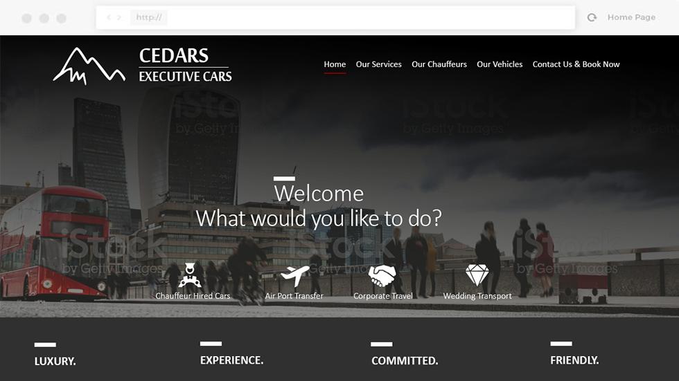 Cedar Cars Website Design